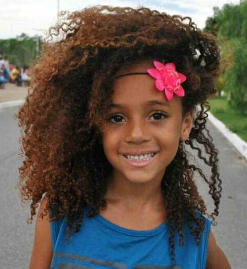 Little Girl's Curly Natural Hairstyle