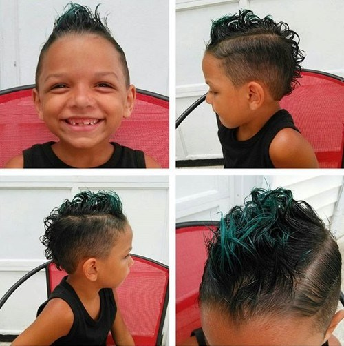 kids curly mohawk for thin hair