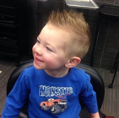 short spiky haircut for little boys