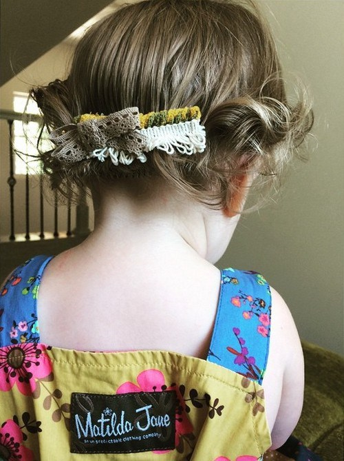 easy toddler girl hairstyle for short hair