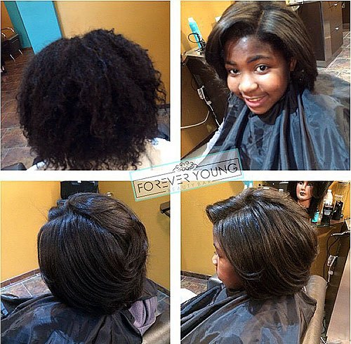 straight bob for a black girl