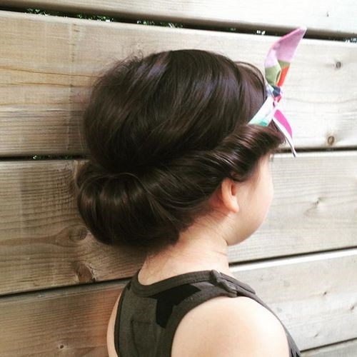 updo with a headband for little girls