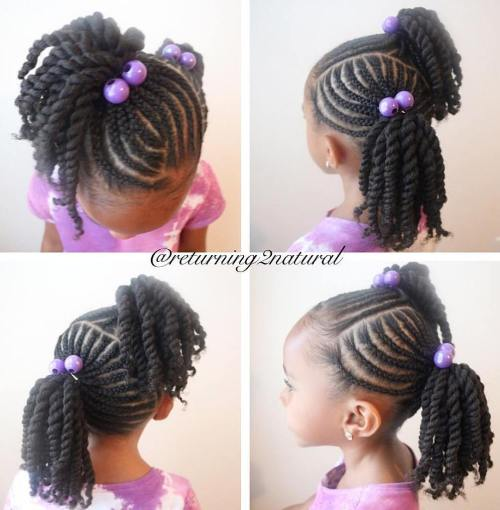 Asymmetrical Twisted Pigtails