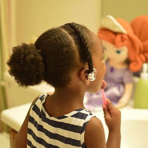 toddler girl formal ponytail hairstyle