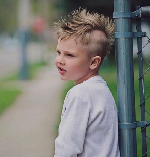 kids mohawk with shaved sides