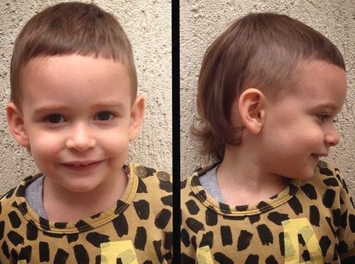 mullet cut for little boys