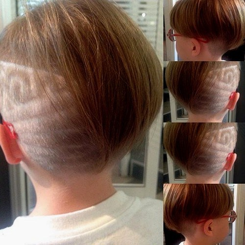 kids short asymmetrical hairstyle for 4 year old girl