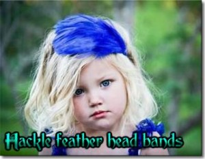 Hackle feather head band