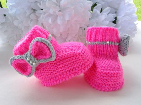 Knitting Shoes For Baby : Beautiful knit patterns baby shoes for winter cheap