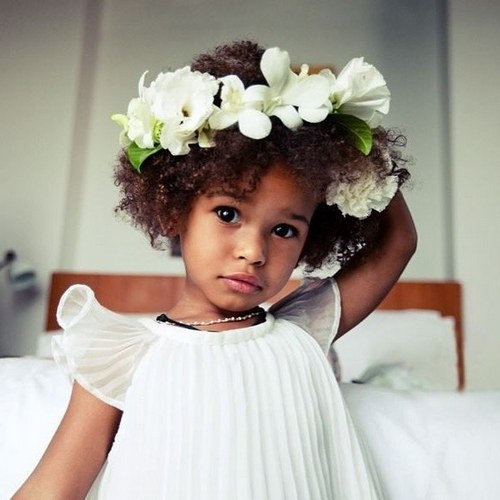 black girl long hairstyles : Pretty And Creative Flower Girl Hairstyles Cheap Little Girls Dress ...